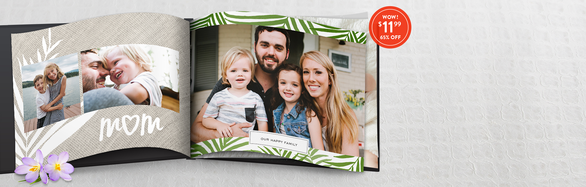 Made for Mom : Use 1199BKS to make a stunning 8x11 hardcover photo book this Mother's Day for just $11.99