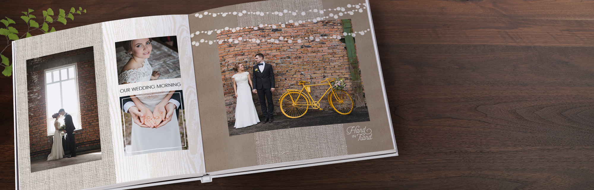 Just married : Capture the magic of your wedding in the stunning seamless pages of a premium layflat photo book.